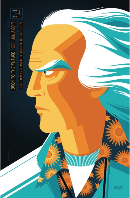 Back To The Future #22 Subscription Cover Art By Tom Whalen (Released August 9th, 2017)
