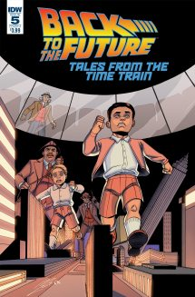 Back To The Future: Tales From The Time Train | Issue 5 | Cover A | Art By Megan Levens | Colors By Charlie Kirchoff
